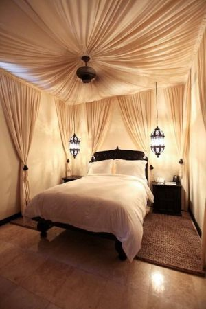 This is a view of a one-bedroom villa bedroom at Cabo Azul Resort.