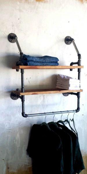 endüstriyel boru raf ayaklı duvar rafı örnekleri (17)