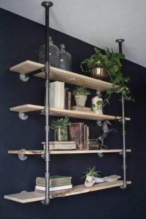 endüstriyel boru raf ayaklı duvar rafı örnekleri (24)