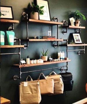 endüstriyel boru raf ayaklı duvar rafı örnekleri (31)