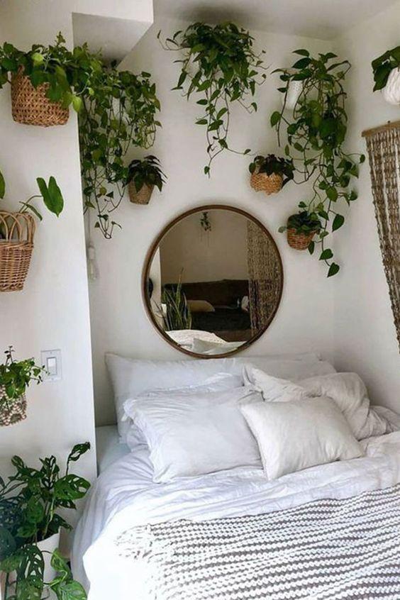 Yatak Odaları Icin Yuvarlak Ayna Dekorasyonu Fikirleri (21)