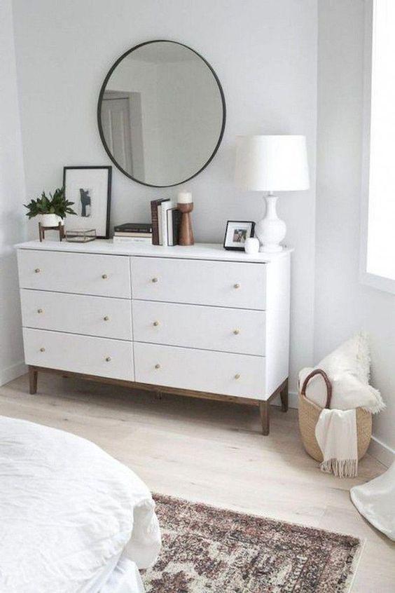 Yatak Odaları Icin Yuvarlak Ayna Dekorasyonu Fikirleri (6)