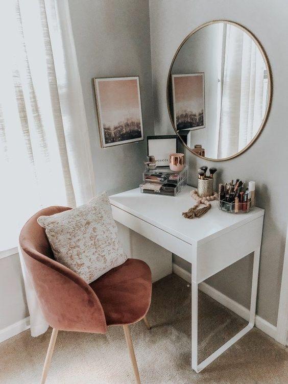 Yatak Odaları Icin Yuvarlak Ayna Dekorasyonu Fikirleri (8)
