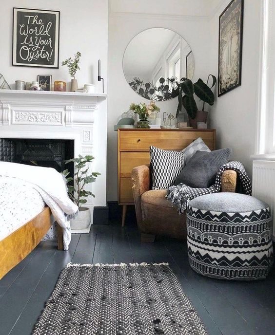 Yatak Odaları Icin Yuvarlak Ayna Dekorasyonu Fikirleri (9)