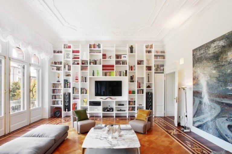 duvardan duvara raflar ile evinize çağdaş bir görünüm kazandırın (12)