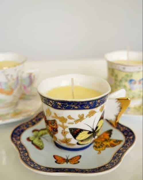 Çay Fincanı İle Kokulu Mum Nasıl Yapılır (3)