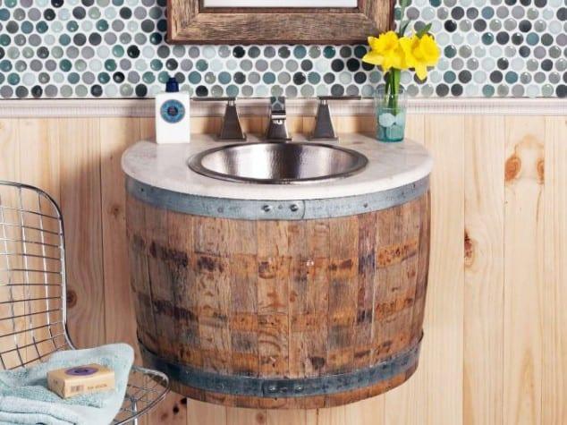 Sahip Olduğunuz Eşki Şeylerin Geri Dönüşümü İle Banyo Tasarımı Fikirleri (8)