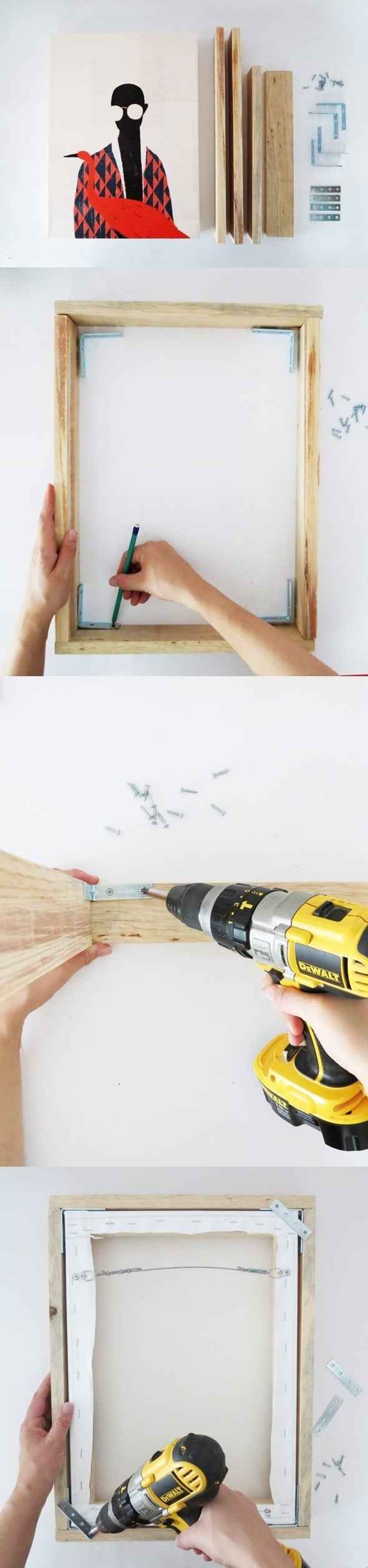 en ucuz kanvas tablo çerçevesi nasıl yapılır